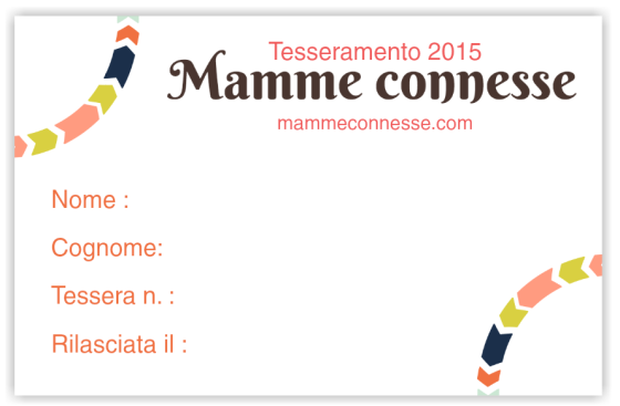 Tessera Mamme Connesse