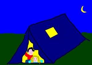 pernottamento in tenda