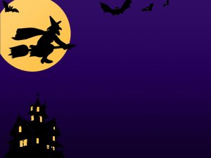 9111-a-halloween-background-with-a-witch-bats-and-a-haunted-house-pv