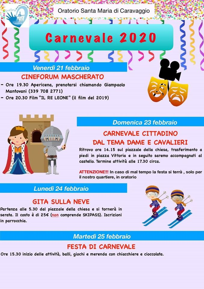 DomenicaPomeriggio_Oratorio Santamaria caravaggio
